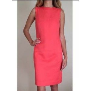 Tory Burch Womans Coral Shift Dress Size 6 Style#
